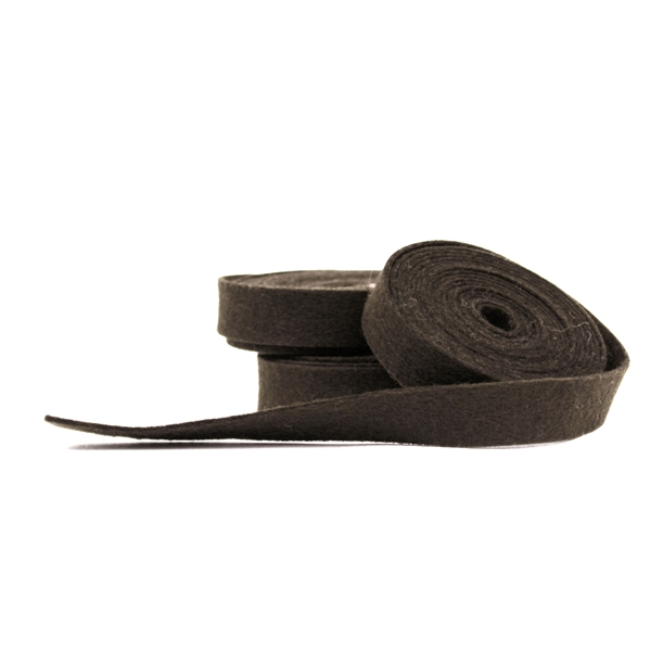 Coffee Wool Felt Ribbon