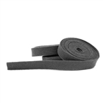 Charcoal Wool Felt Ribbon