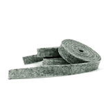 Dark Heather Gray Wool Felt Ribbon