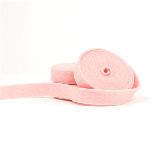 French Peach Wool Felt Ribbon