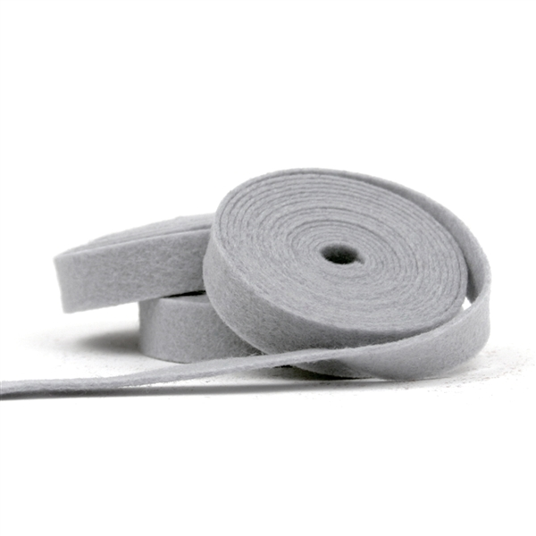 Gray Wool Felt Ribbon