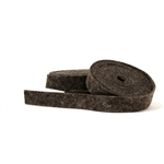 Heather Chocolate Wool Felt Ribbon