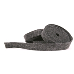 Heather Charcoal Wool Felt Ribbon
