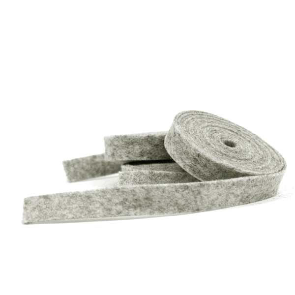 Heather Gray Wool Felt Ribbon