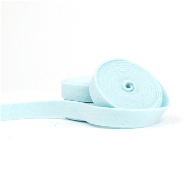 Light Blue Wool Felt Ribbon