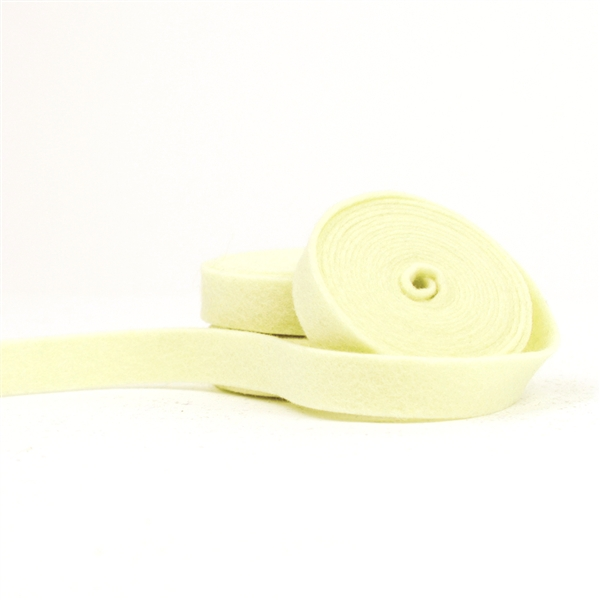 Light Yellow Wool Felt Ribbon