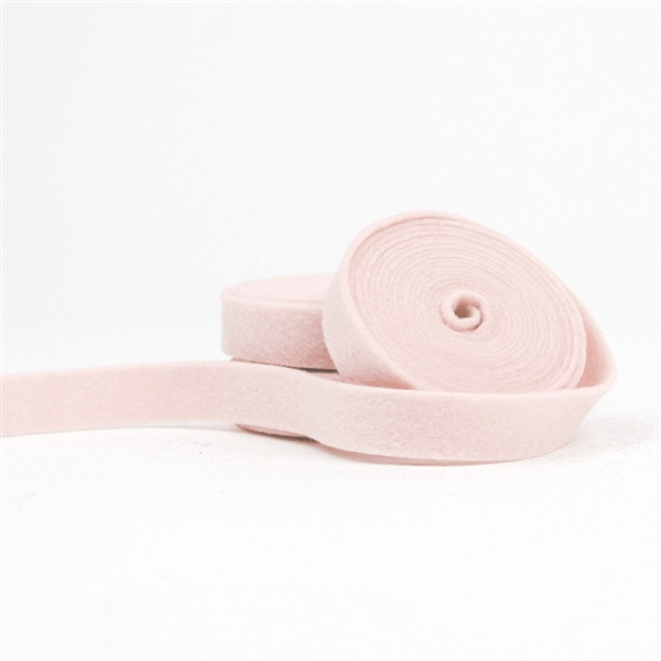 Light Pink Wool Felt Ribbon