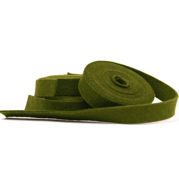 Olive Wool Felt Ribbon