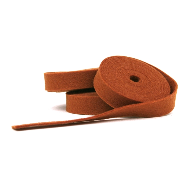 Rust Wool Felt Ribbon