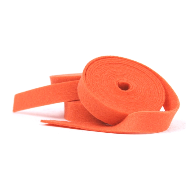 Salmon Wool Felt Ribbon