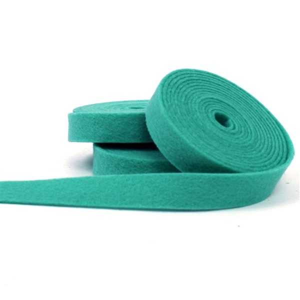 Teal Wool Felt Ribbon