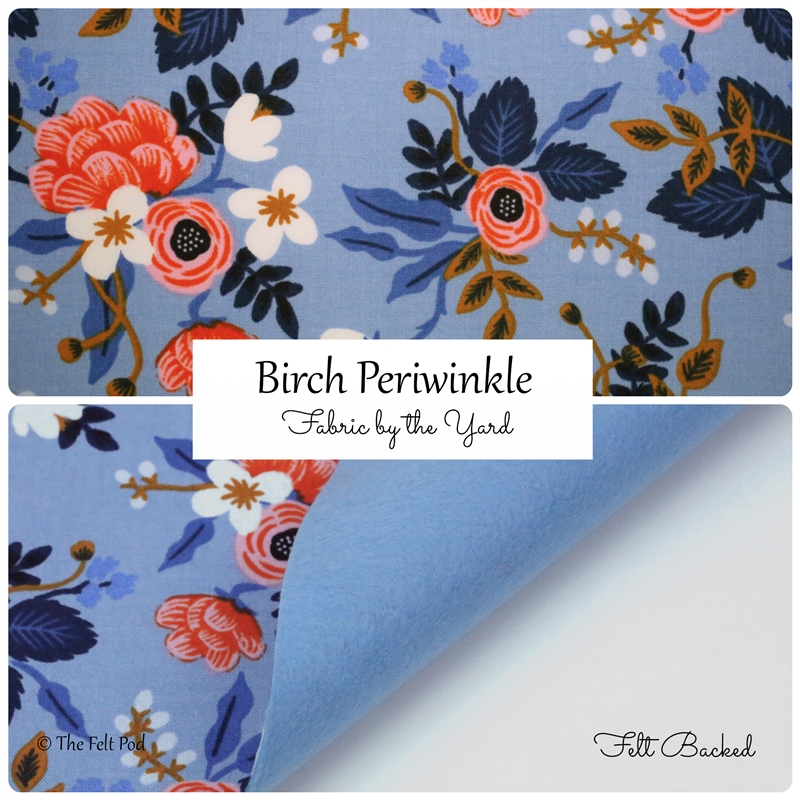 Birch Floral Periwinkle