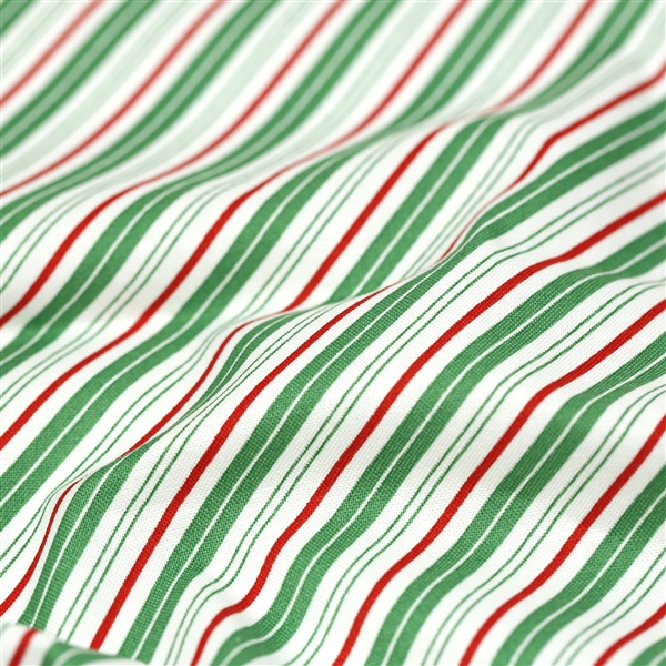 Santa Claus Lane - Stripes Green