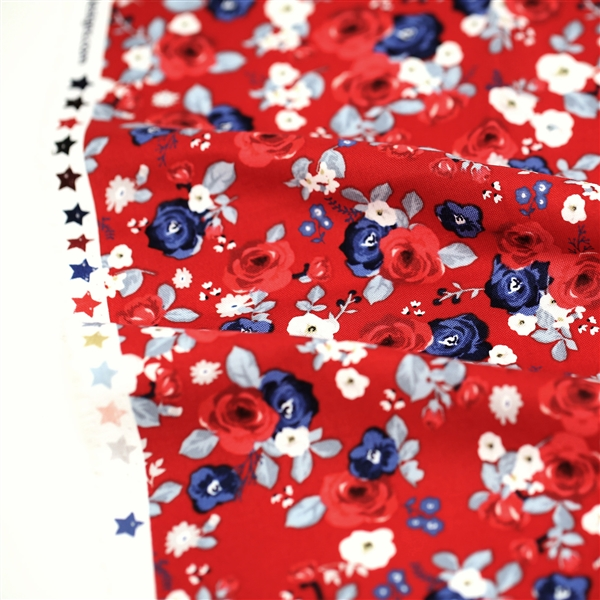 Land of Liberty Red Floral