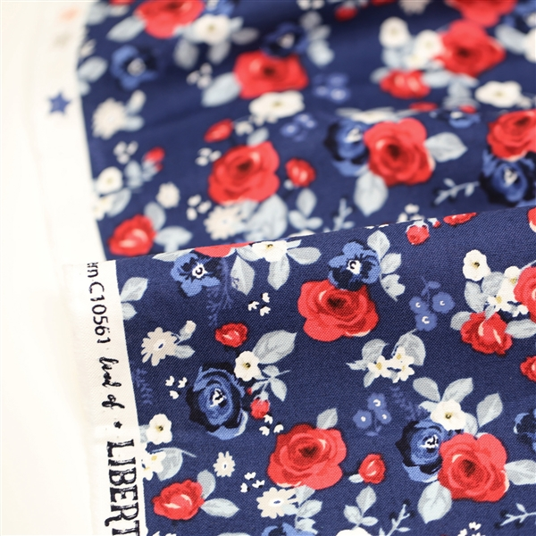 Land of Liberty Blue Floral