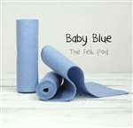 Baby Blue Wool Felt Roll