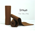 Brown Wool Felt Roll