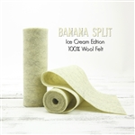 Banana Split Wool Felt Roll