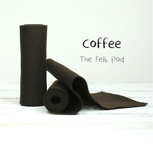 Coffee Wool Felt Roll