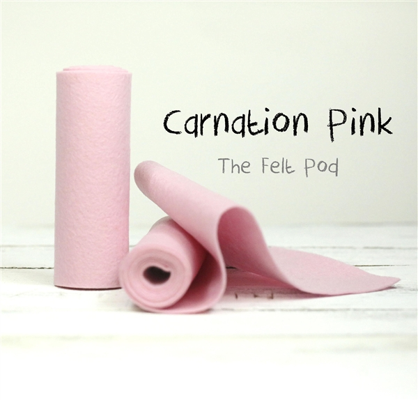 Carnation Pink Wool Felt Roll