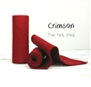 Crimson Wool Felt Roll
