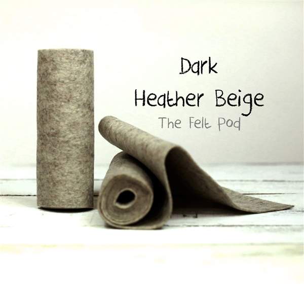Dark Heather Beige Wool Felt Roll