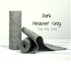 Dark Heather Gray Wool Felt Roll