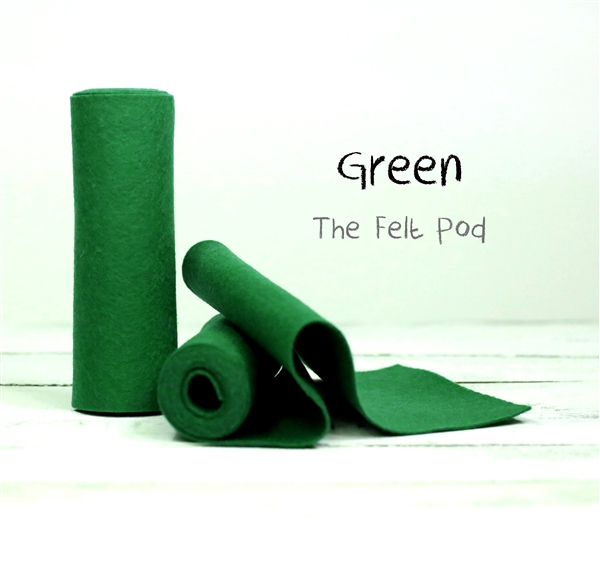 Green Wool Felt Roll