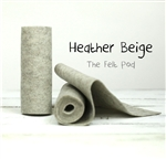 Heather Beige Wool Felt Roll