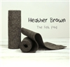 Heather Brown Wool Felt Roll
