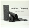 Heather Charcoal Wool Felt Roll