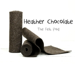 Heather Chocolate Wool Roll