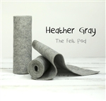 Heather Gray Wool Felt Roll
