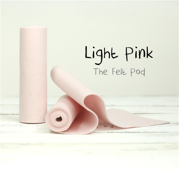 Light Pink Wool Felt Roll