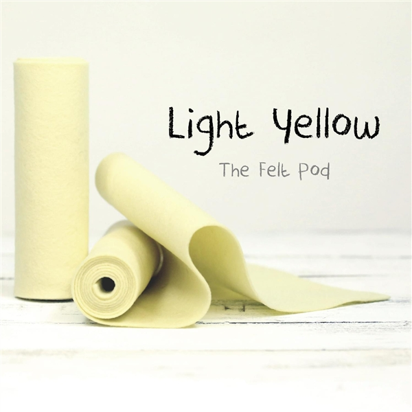 Light Yellow Wool Felt Roll