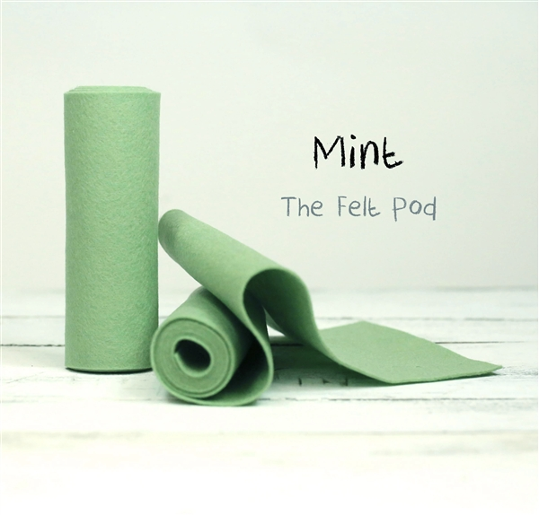 Mint Wool Felt Roll
