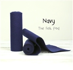 Navy Wool Felt Roll