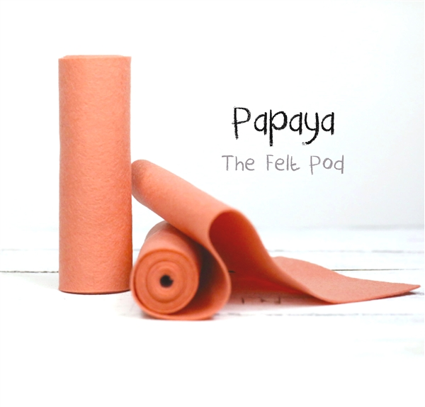 Papaya Wool Felt Roll