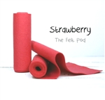 Strawberry Wool Felt Roll