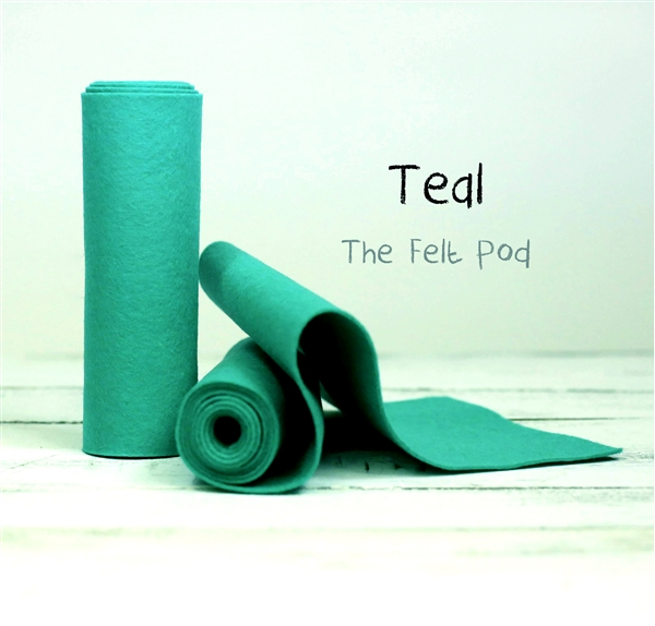 Teal Wool Felt Roll
