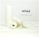 White Wool Felt Roll
