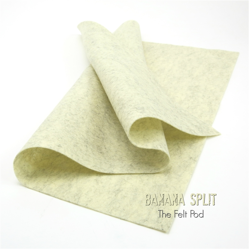 Banana Split Wool Felt Sheet