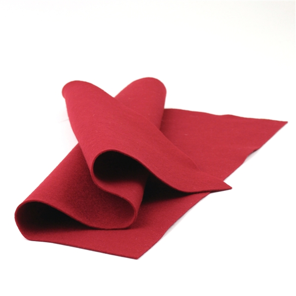 Crimson Wool Felt Sheet