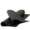 Heather Black Wool Felt Sheet