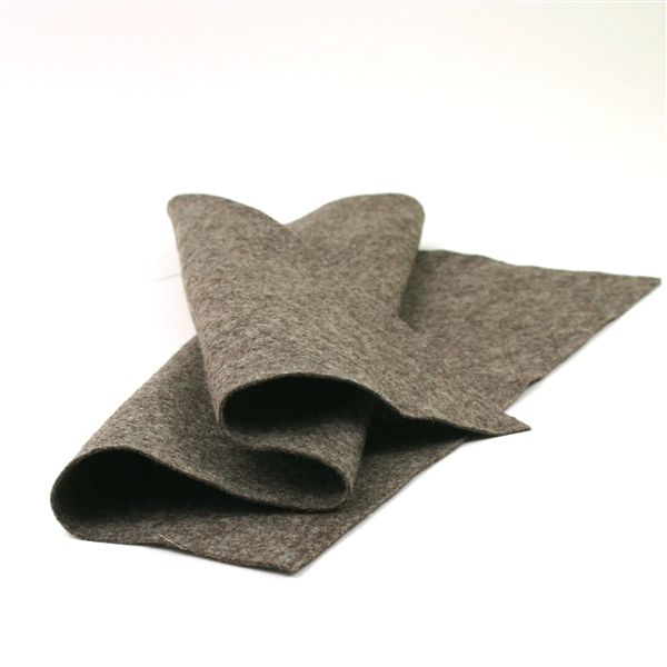 Heather Brown Wool Felt Sheet