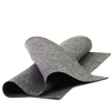 Heather Charcoal Wool Felt Sheet