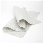 Heather White Wool Felt Sheet