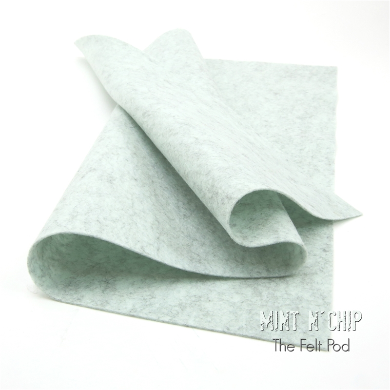 Mint N' Chip Wool Felt Sheet