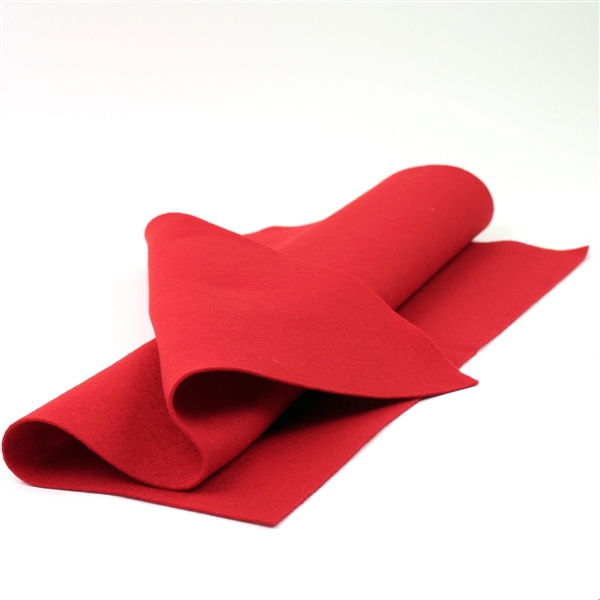 Red Wool Felt Sheet