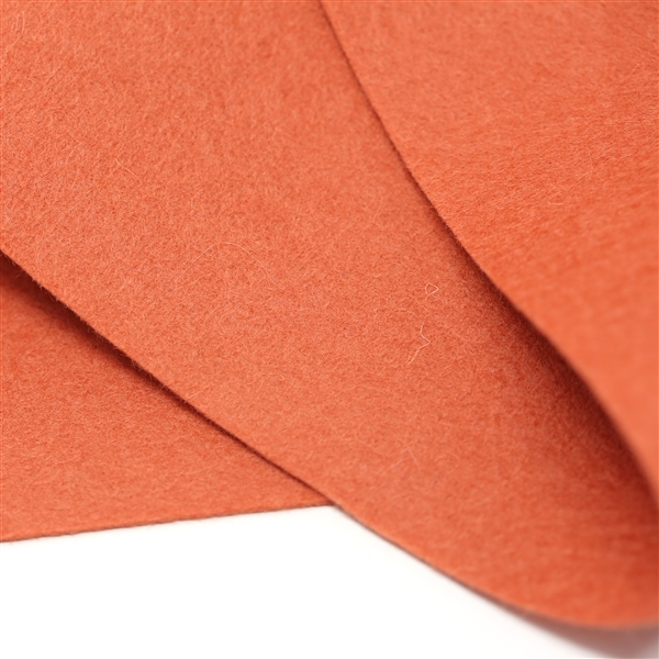 Terracotta Wool Felt Sheet